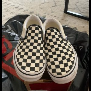 Vans Shoes - Vans classic checkered slip on unisex youth size 3